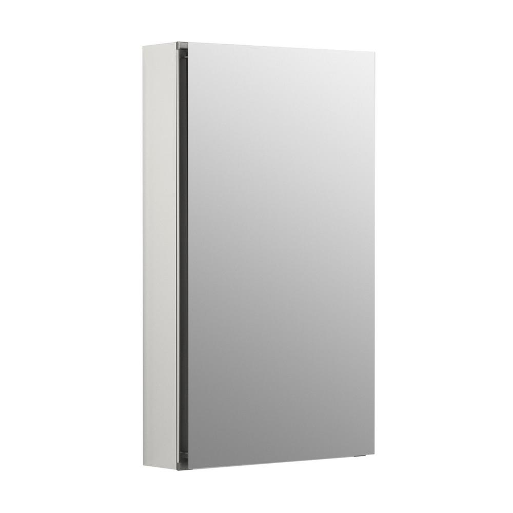 15 in. x 26 in. Recessed or Surface Mount Medicine Cabinet in White Powder-Coat Aluminum