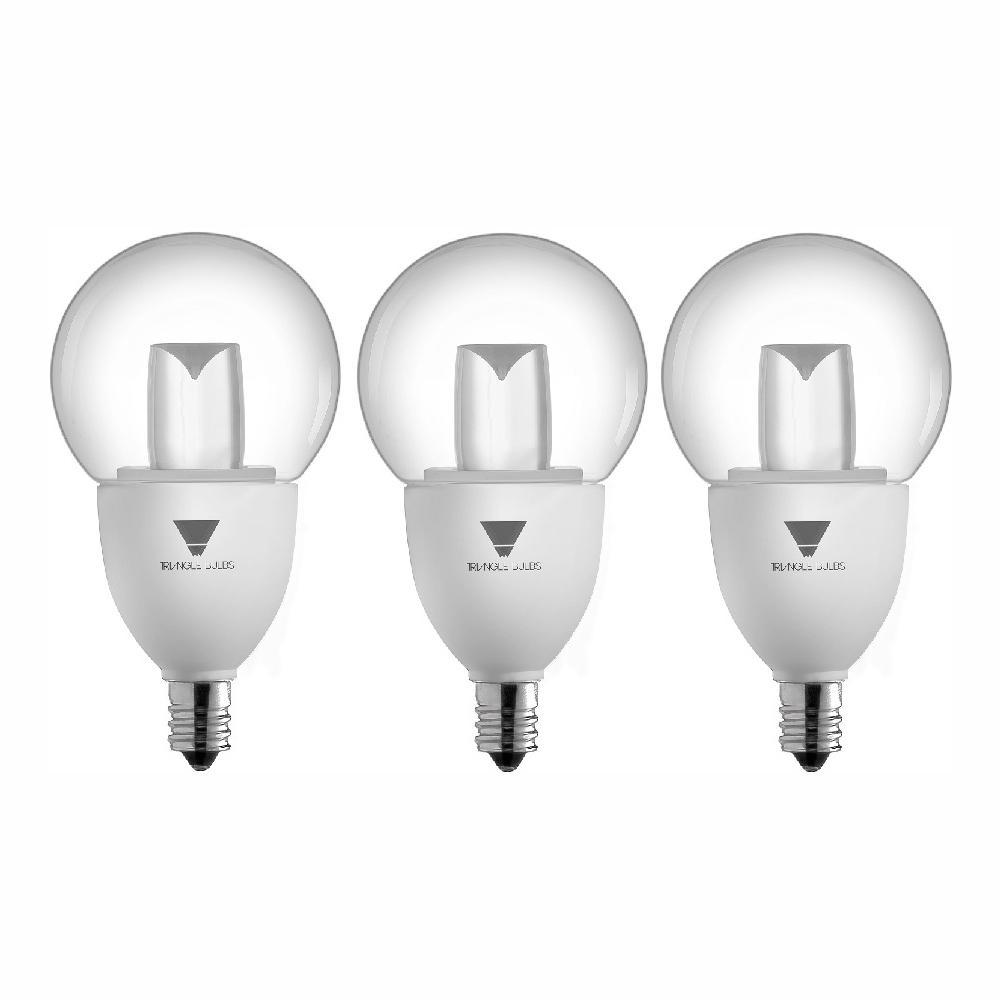 40-Watt Equivalent G16.5 Decorative Globe Dimmable E12 Base LED Light Bulb (3-Pack)
