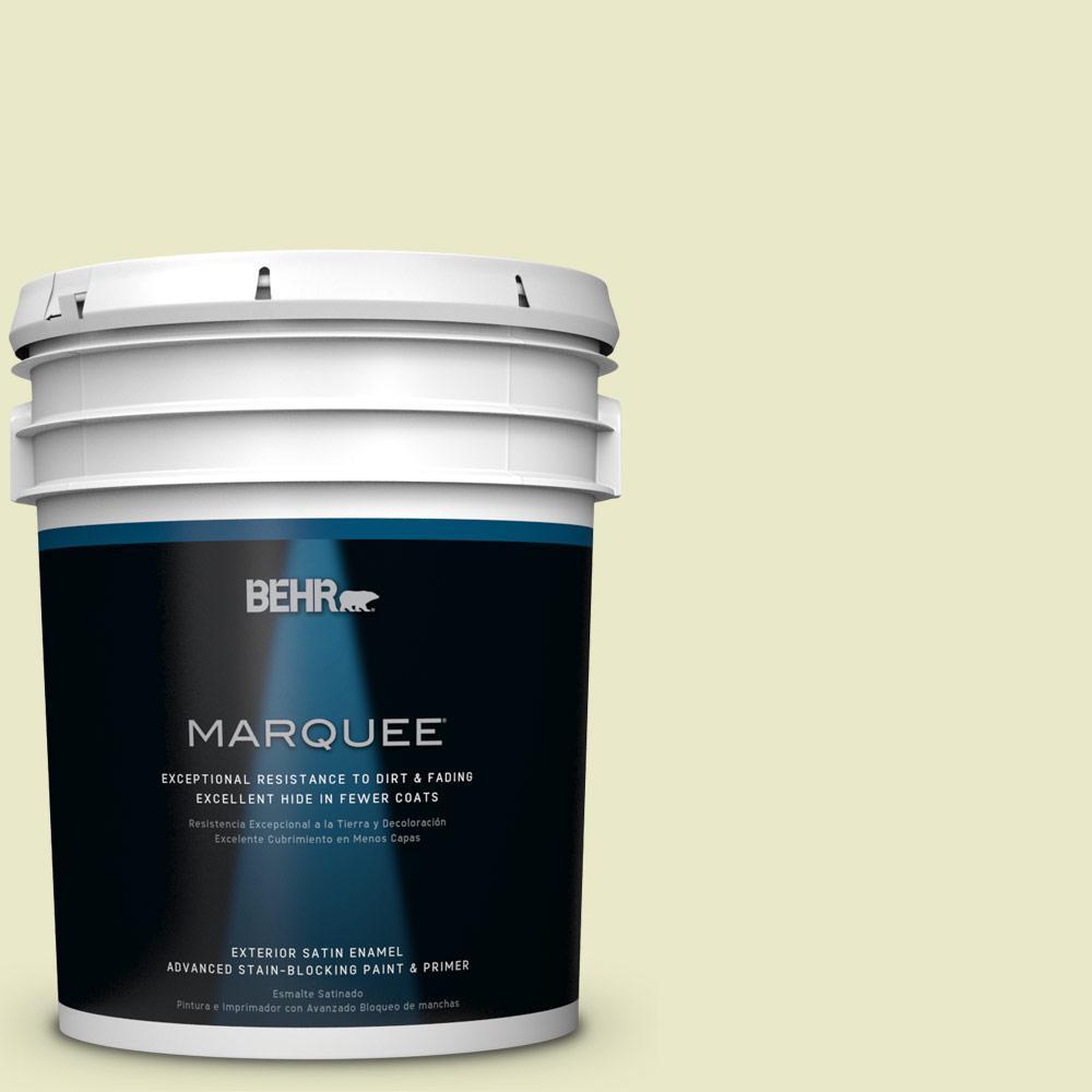 BEHR MARQUEE 5-gal. #PPU9-16 Pale Celery Satin Enamel Exterior Paint