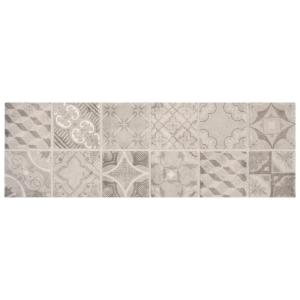 Eclectic Vintage Timeworn Painted 4 in. x 12 in. Ceramic Decorative Accent Wall Tile (0.33 sq. ft. / piece)