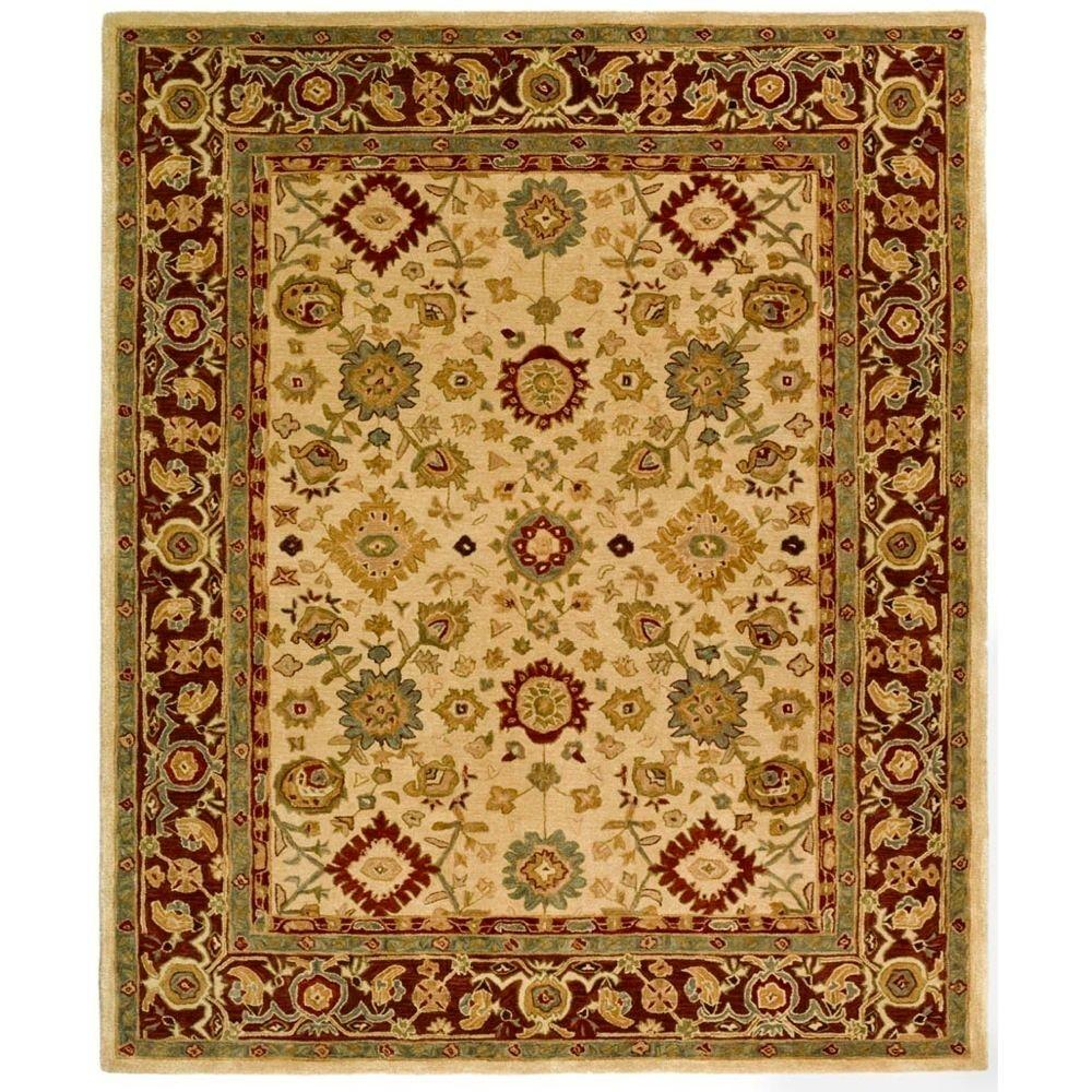 Anatolia Ivory/Brown 5 ft. x 8 ft. Area Rug