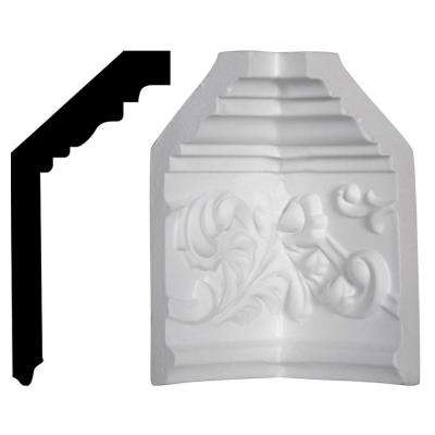 2-1/4 in. x 5-1/2 in. x 5-1/2 in. Polyurethane Richmond Crown Inside Corner Moulding