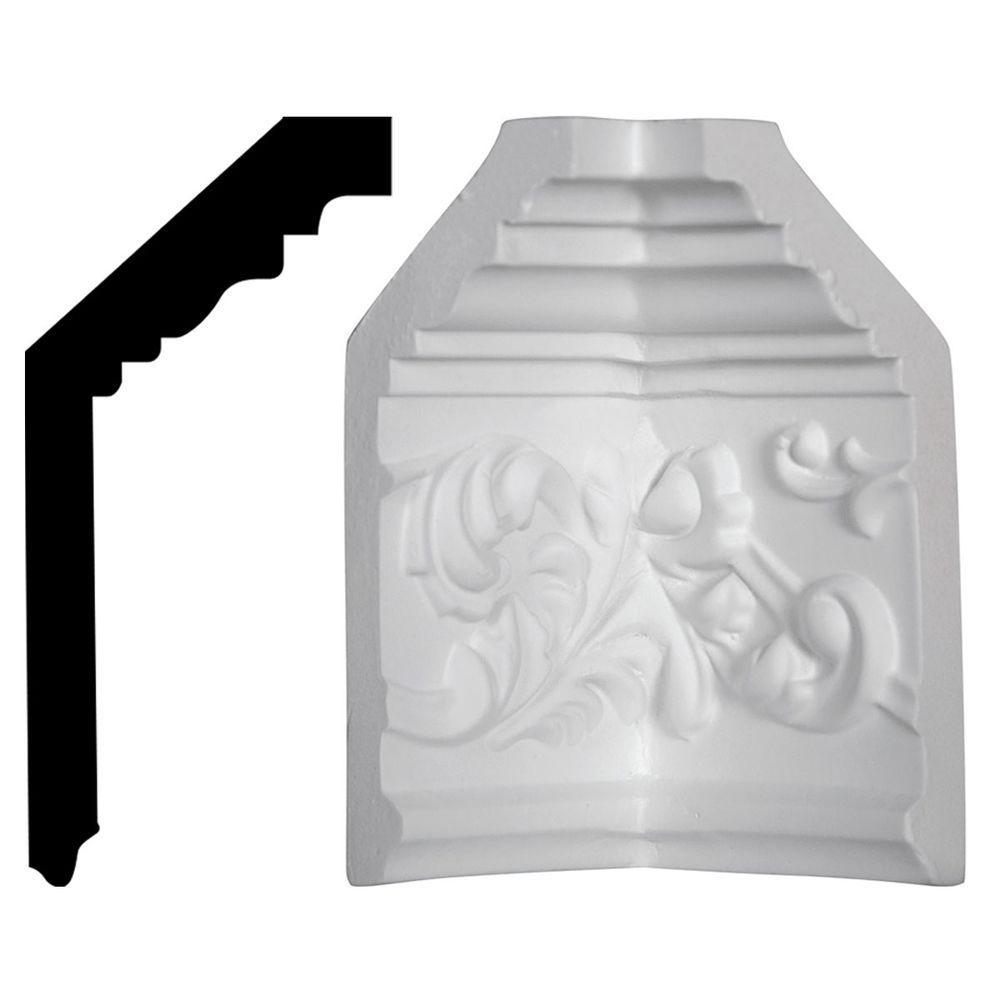2-1/4 in. x 5-1/2 in. x 5-1/2 in. Polyurethane Richmond Crown Inside Corner Moulding