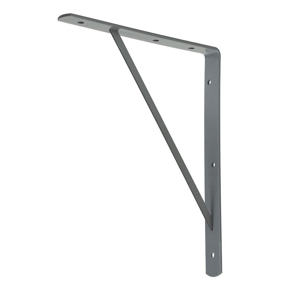 Everbilt 10 in. x 8 in. Gray Medium Duty Shelf Bracket