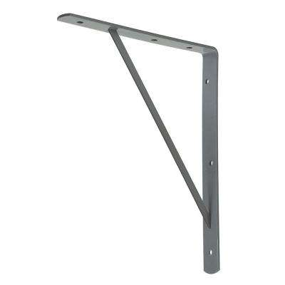 10 in. x 8 in. Gray Medium Duty Shelf Bracket