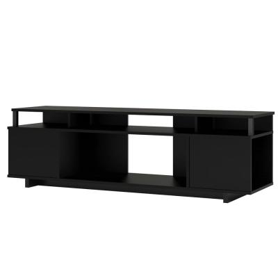 Scepter 59.41 in. Black Oak TV STand Fits TV's up to 65 in.