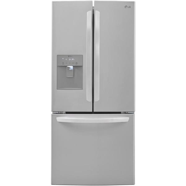 21.8 cu. ft. French Door Refrigerator with External Water Dispenser in Stainless Steel