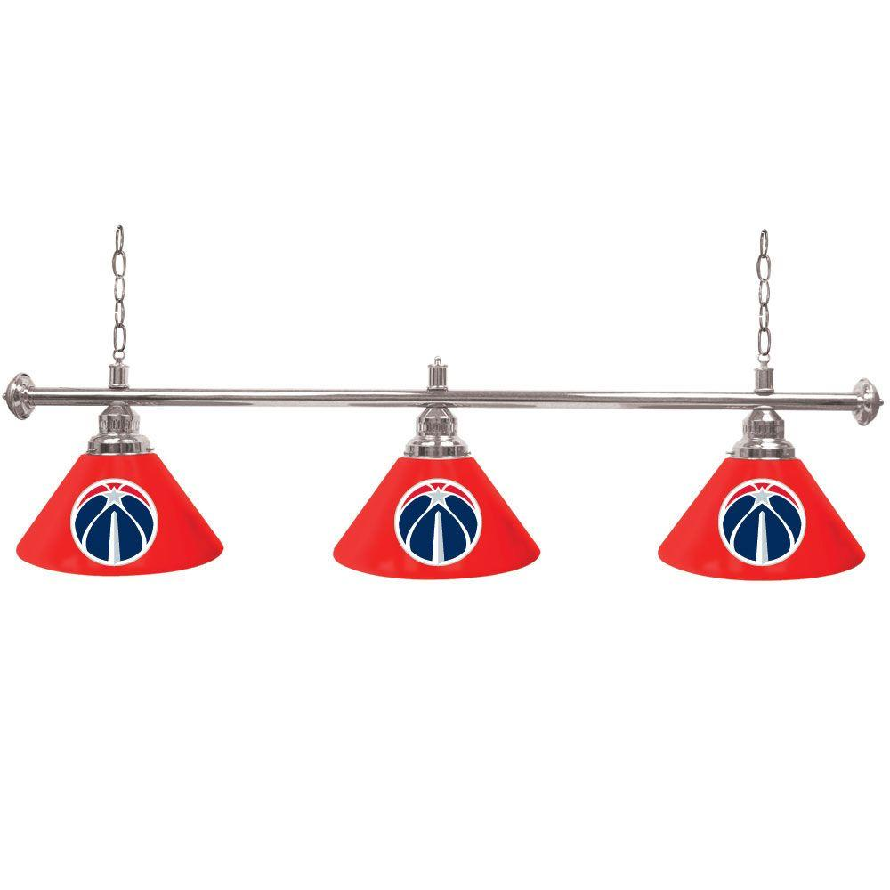 Trademark Washington Wizards NBA 60 in. Three Shade Gold Billiard Lamp