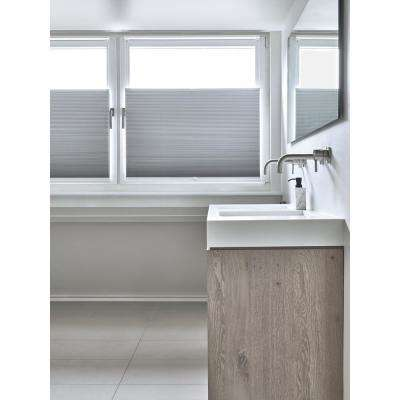 Cut-to-Width White Blackout Fabric Cordless 3/4 in. Cellular Shade - 32.5 in. W x 72 in. L