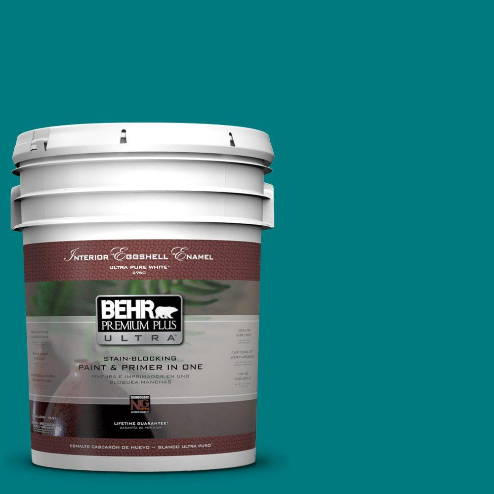 BEHR Premium Plus Ultra 5-gal. #S-G-500 Tropical Waters Eggshell Enamel Interior Paint