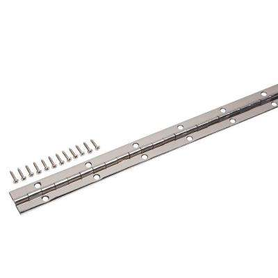 1-1/16 in. x 30 in. Bright Nickel Continuous Hinge