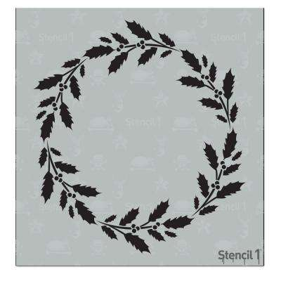 Wreath Holly Small Stencil