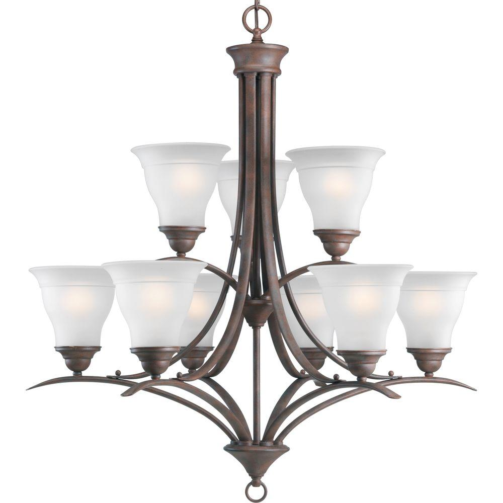 Progress Lighting Trinity Collection Cobblestone 9-light Chandelier-DISCONTINUED