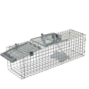 Medium 1-Door Easy Set Live Animal Cage Trap for Rabbit and Skunk