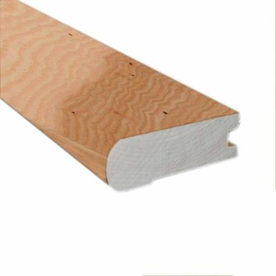 Vintage Hickory Natural 0.81 in. Thick x 2-3/4 in. Wide x 78 in. Length Hardwood Flush-Mount Stair Nose Molding