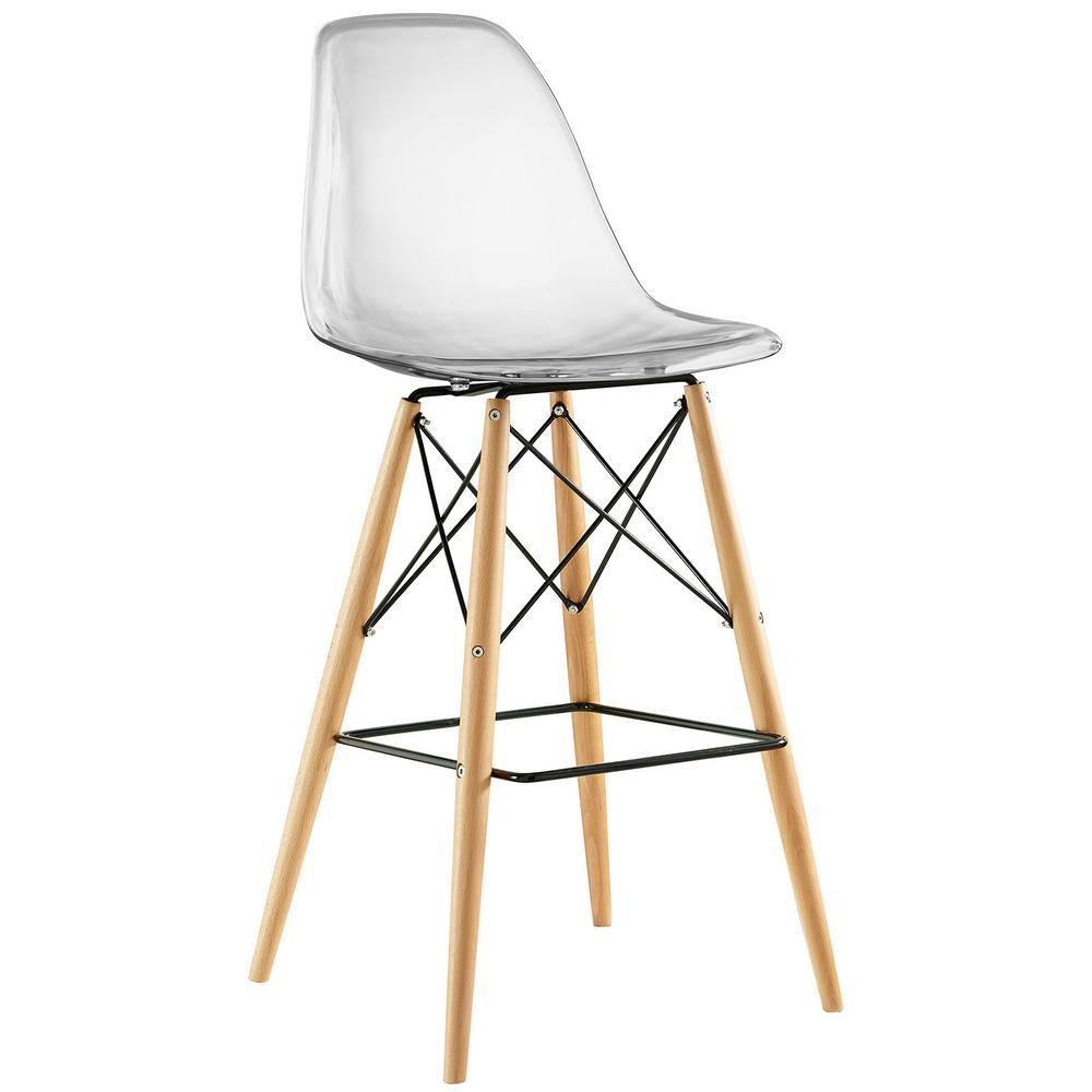 Modway pyramid clear bar stool