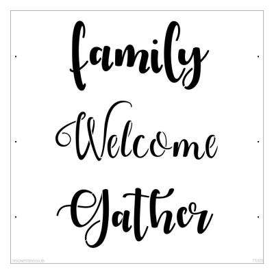 Family Welcome Gather Lettering Stencil