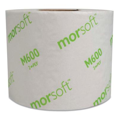 Morsoft Controlled Toilet Paper, Septic Safe, 2-Ply, White, 3.9 in. x 4 in., 600 Sheets/Roll, 48 Rolls/Carton
