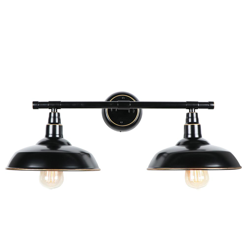 2-Light Oil Rubbed Bronze Outdoor Wall Mount Barn Light Sconce