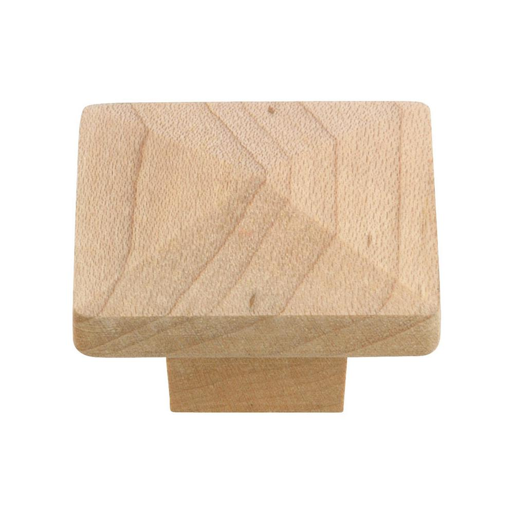 Richelieu Hardware Eclectic 1-1/4 in. (32 mm) Unfinished Maple Square Cabinet Knob