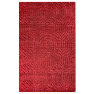 Technique Red Solid 5 ft. x 8 ft. Area Rug