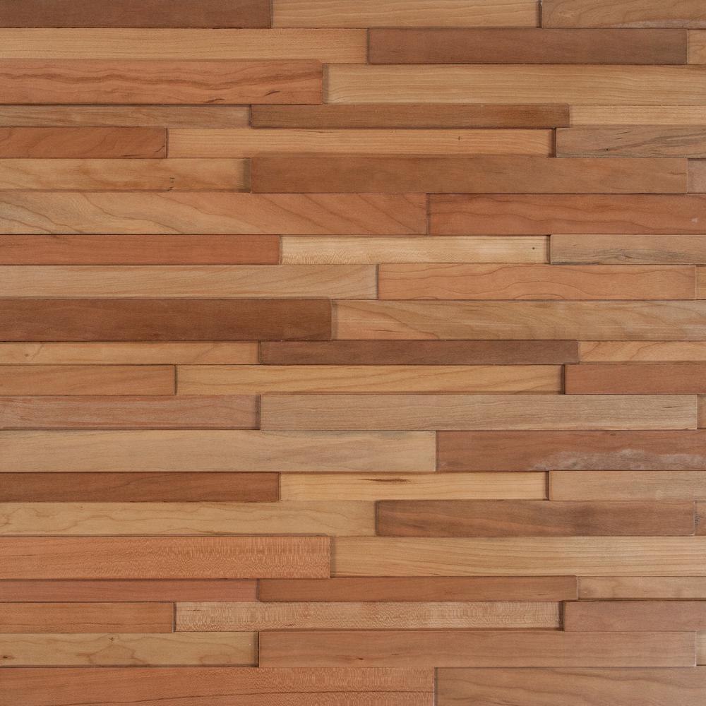 Take Home Sample - Deco Strips Koa Engineered Hardwood Wall Strips - 5 in. x 7 in.