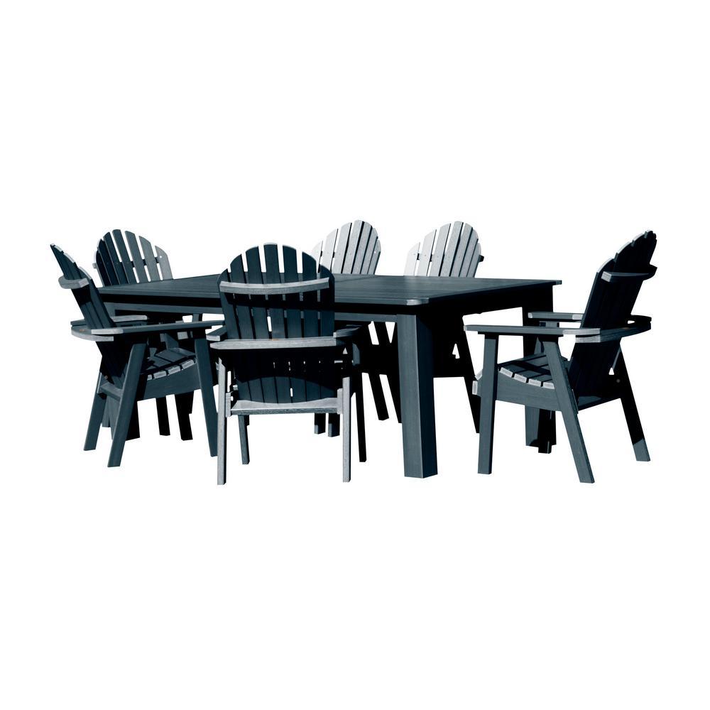 Hamilton Federal Blue 7-Piece Plastic Rectangular Outdoor Dining Set