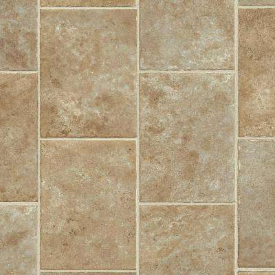 FlexStep Value Plus 12 ft. Width x Custom Length Brown Sugar Residential Vinyl Sheet Flooring