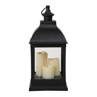 Osborne 10 in. Classic Black Outdoor Battery Powered Lantern