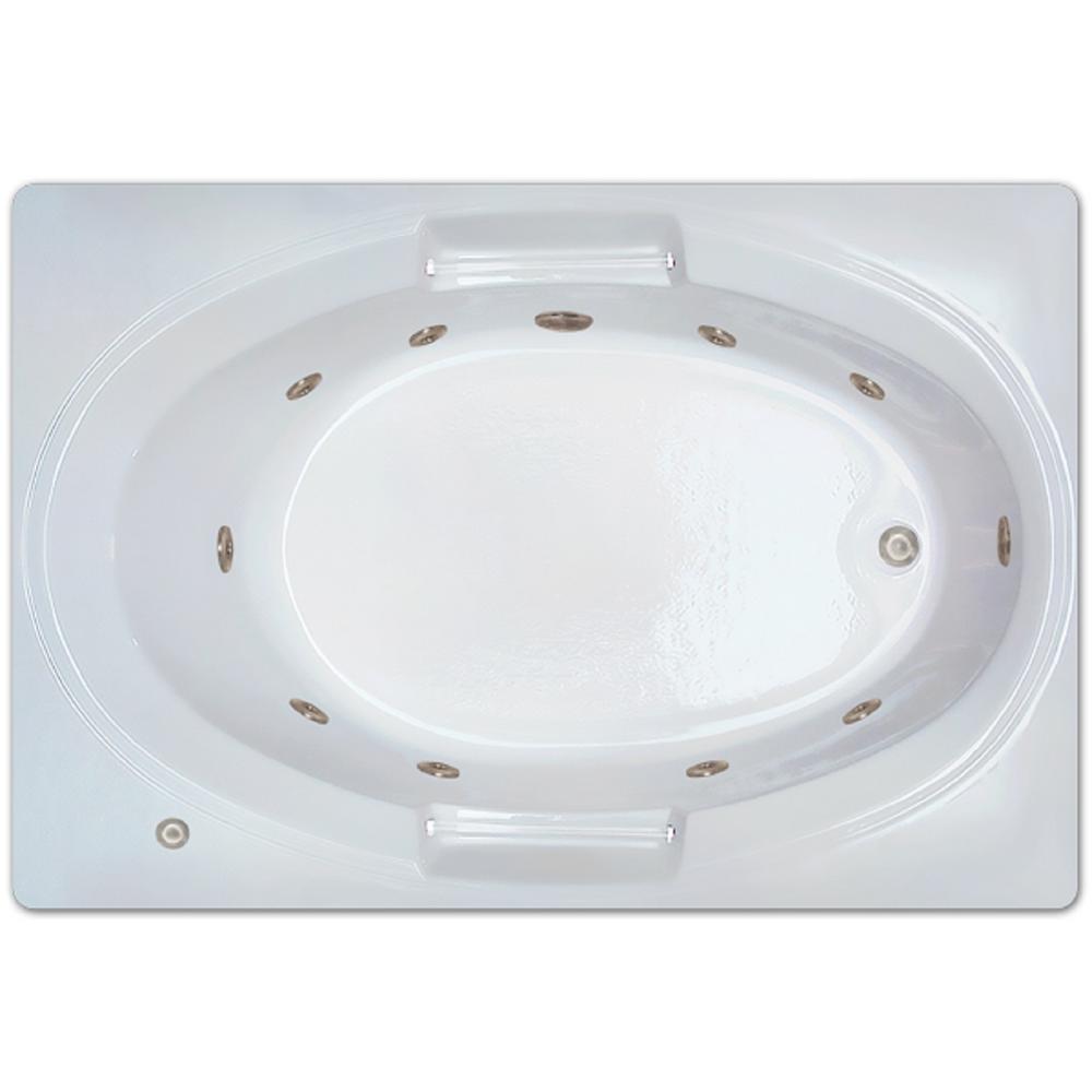 5 ft. Right Drain Drop-in Rectangular Whirlpool Bathtub in White