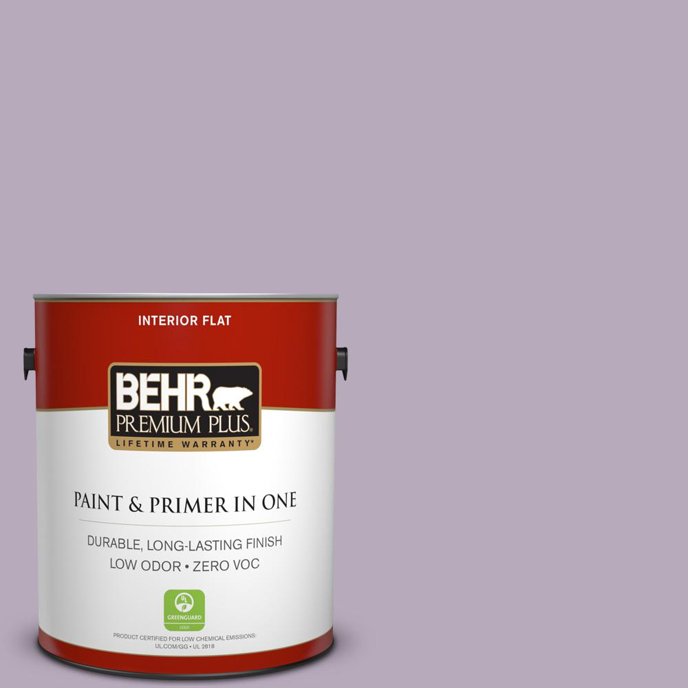 1-gal. #HDC-SP14-12 Exclusive Violet Zero VOC Flat Interior Paint
