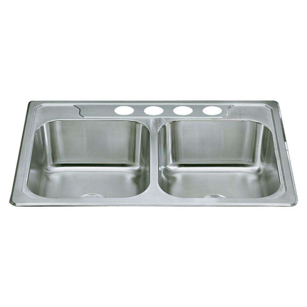 33 inch kitchen sink steel kitchen sterling middleton dropin stainless steel 33 in 4hole double bowl kitchen