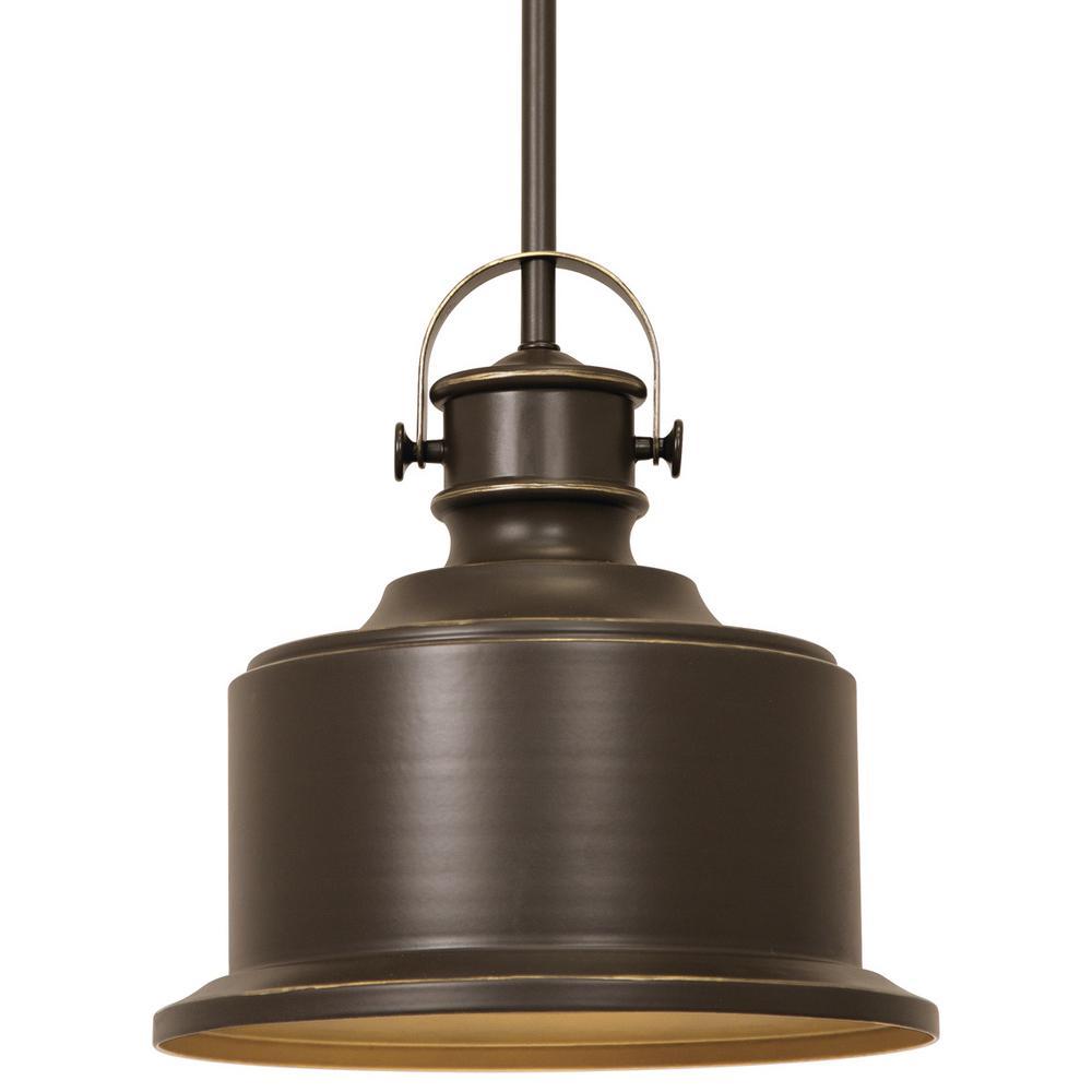 Home Depot Kitchen Lighting Fixtures: Progress Lighting Callahan Collection 1-Light Antique