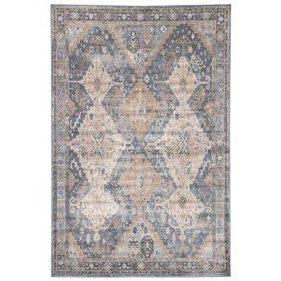 Venice Blue 5 ft. x 8 ft. Geometric Rectangle Area Rug