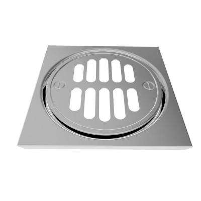 Deluxe 4-1/4 in. Shower Drain Trim Set in Polished Chrome