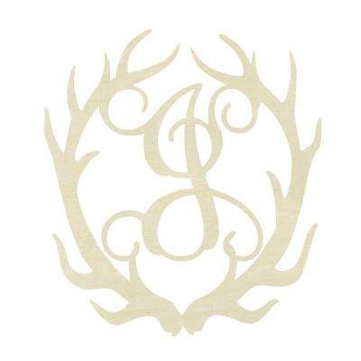 19.5 in. Unfinished Antler Monogram (J)
