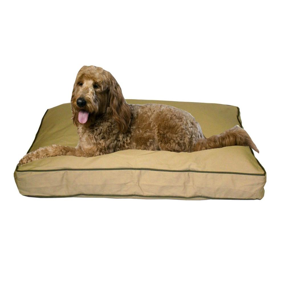 Large Classic Twill Rectangle Jamison Bed - Khaki