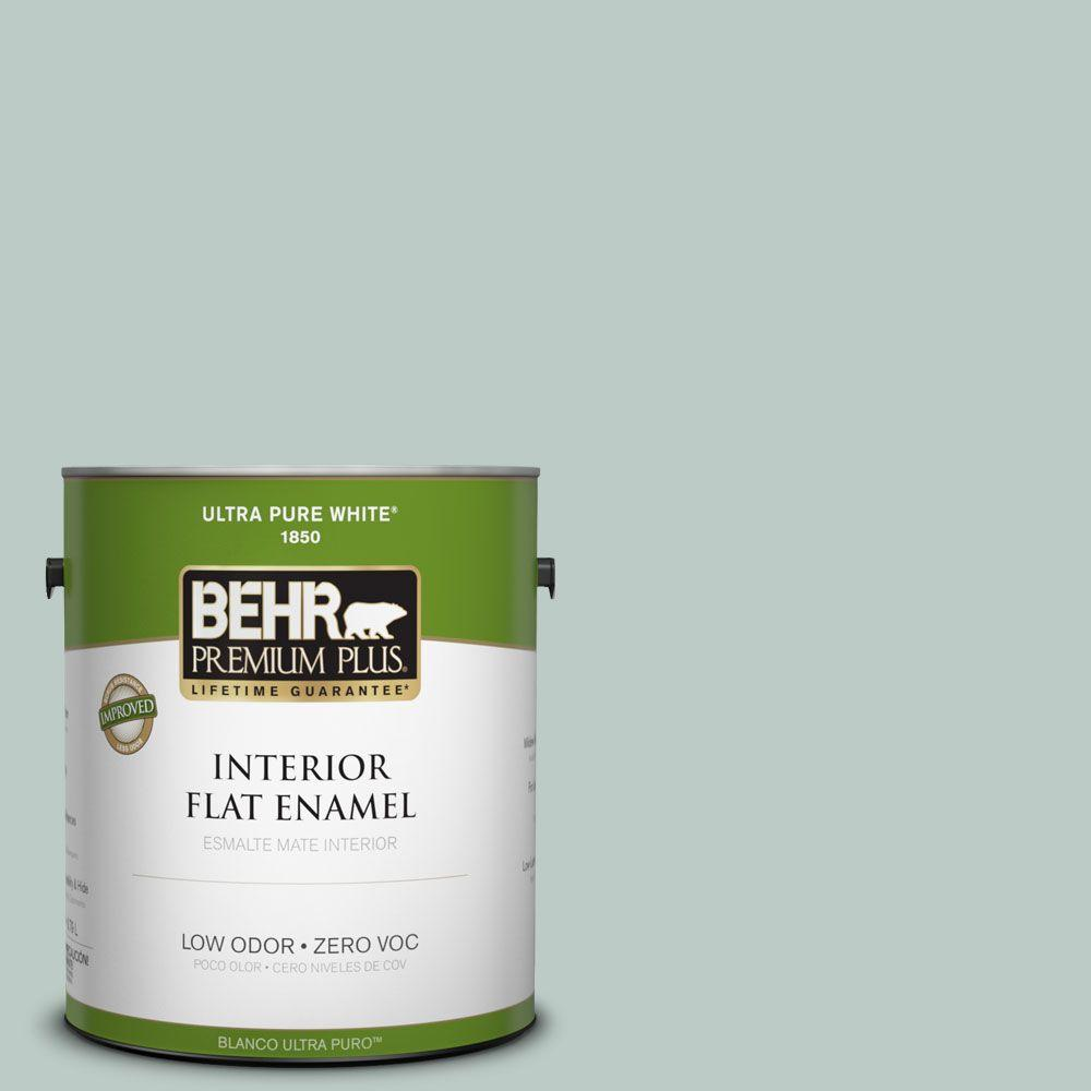 BEHR Premium Plus Home Decorators Collection 1-gal. #HDC-CL-23 Soothing Spring Zero VOC Flat Enamel Interior Paint-DISCONTINUED
