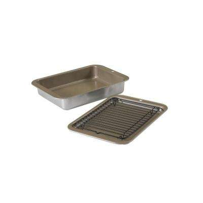 3-Piece Silver Bakeware Set