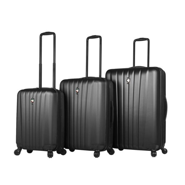 Mia Toro Magari 3-Piece Black Hard Side Spinner Luggage Set M1225-03PC-BLKNL