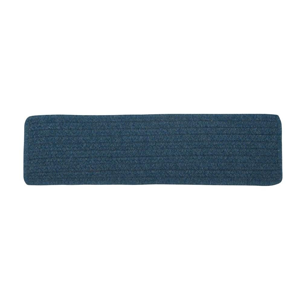 Colonial Mills Allure Polo Blue Braided Stair Tread Set of 13