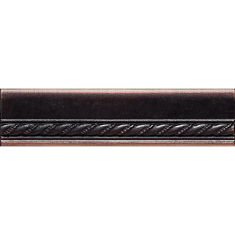 Daltile ion metals oil rubbed bronze 1 12 in x 6 in composite daltile ion metals oil rubbed bronze 1 12 in x 6 in composite of metal ceramic and polymer chair rail accent tile im03156cr1p the home depot dailygadgetfo Choice Image