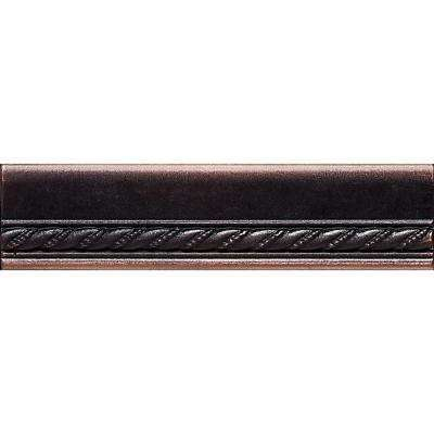 Ion Metals Oil Rubbed Bronze 1-1/2 in. x 6 in. Composite of Metal Ceramic and Polymer Chair Rail Accent Tile