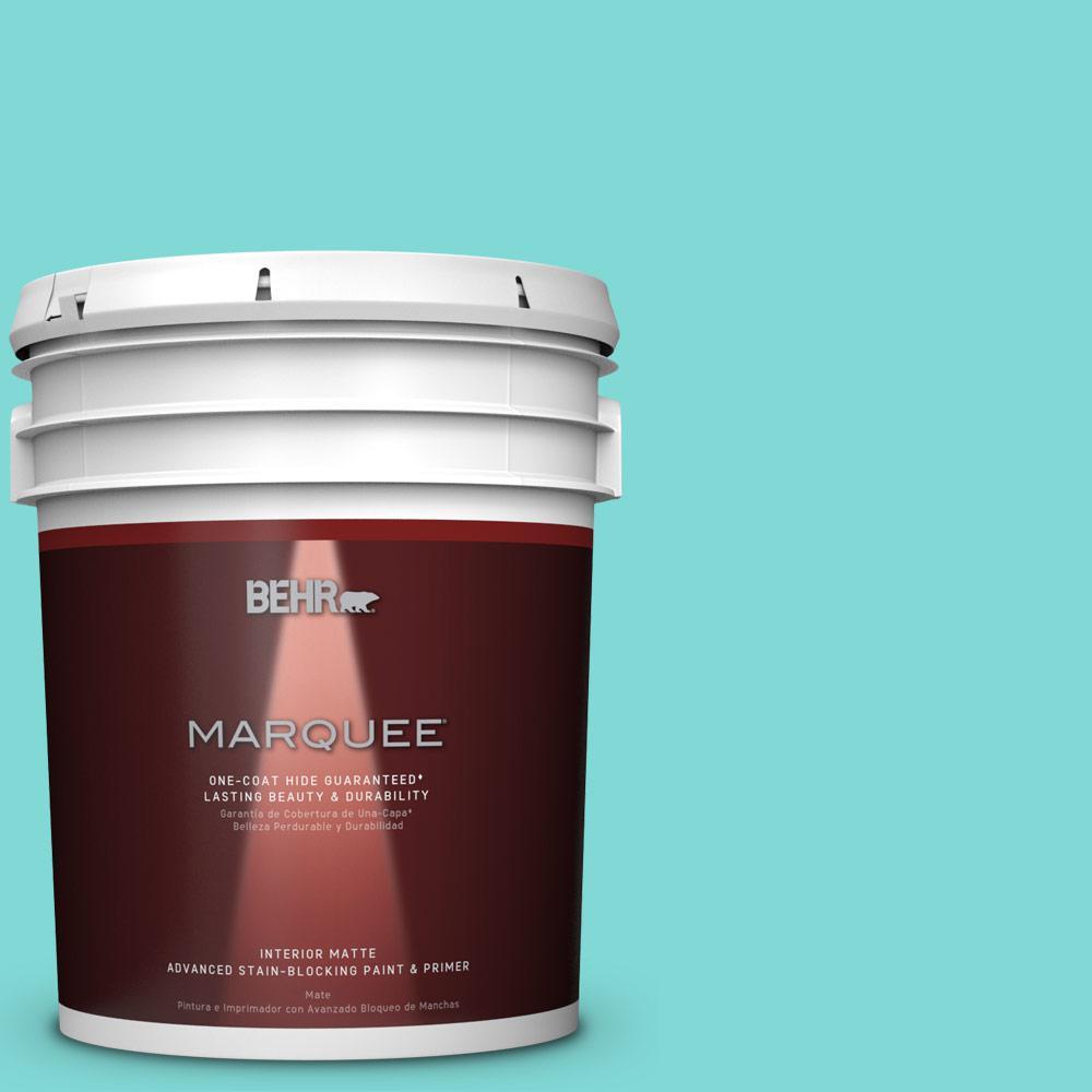 5 gal. #MQ4-22 Key Largo One-Coat Hide Matte Interior Paint