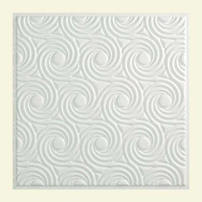 Cyclone - 2 ft. x 2 ft. Lay-in Ceiling Tile in Gloss White