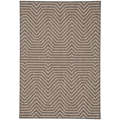 Anthracite 2 ft. x 3 ft. Geometric Indoor/Outdoor Area Rug