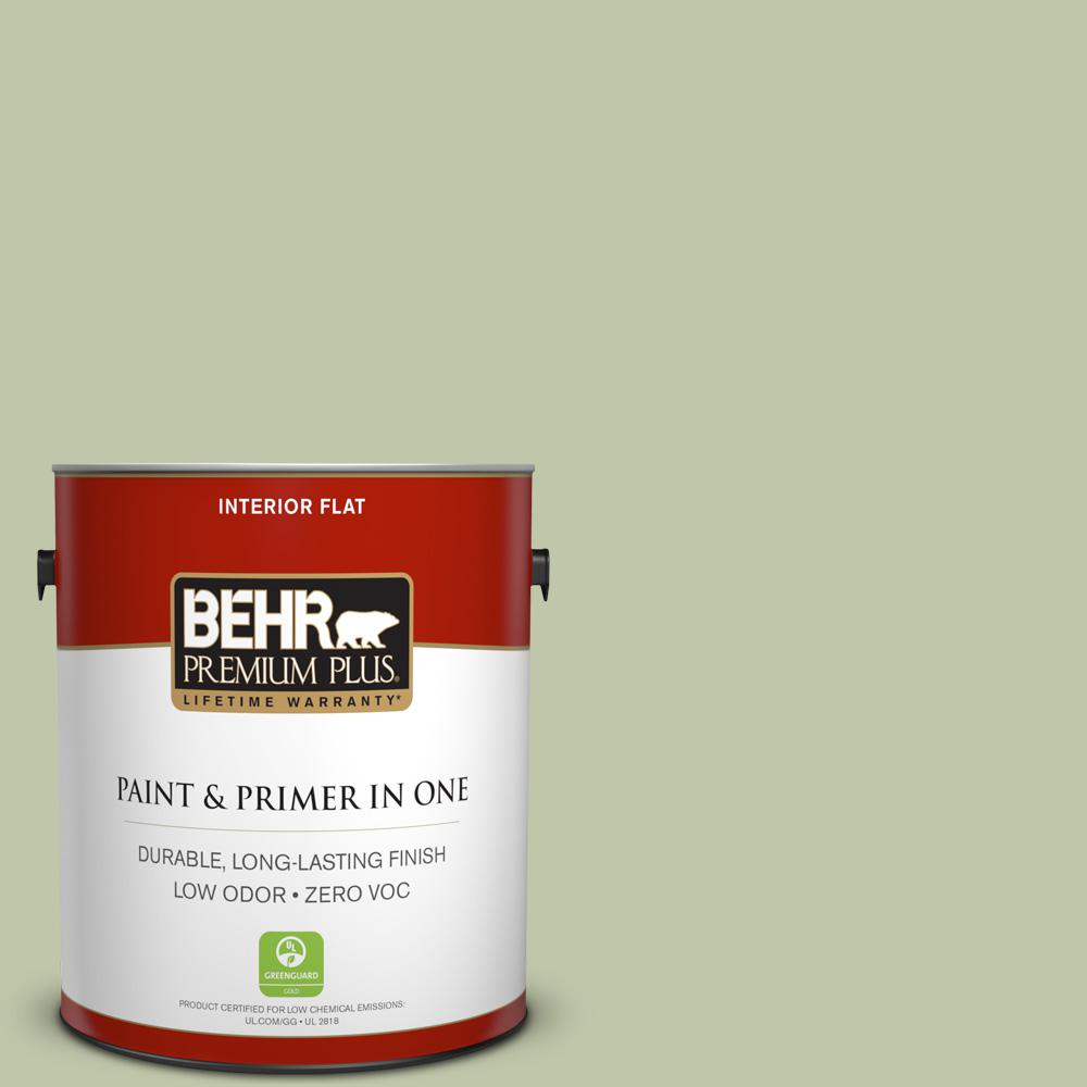 1 gal. #PPU10-08 Minted Lemon Zero VOC Flat Interior Paint