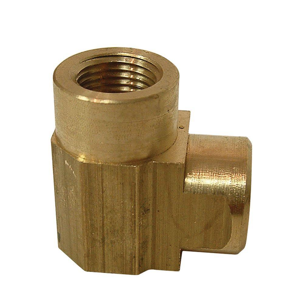 Everbilt 1/8 in. FIPLead-Free Brass Pipe 90-Degree Elbow