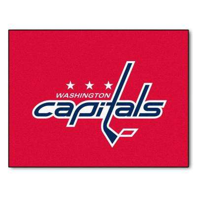 NHL Washington Capitals Red 2 ft. x 4 ft. Indoor All Star Area Rug