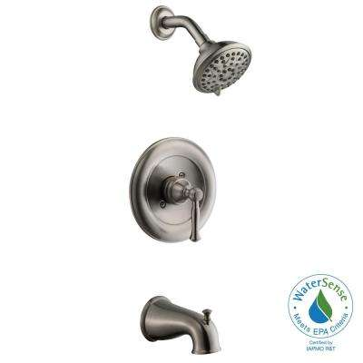 Fairway 1-Handle 3-Spray Tub and Shower Faucet in Brushed Nickel